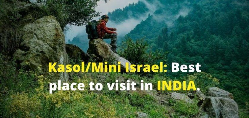 single person enjoy in Kasol/Mini Israel